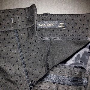 Zara Basic polka dot black work pants size 27